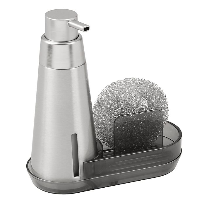 Interdesign Soap Pump Dispenser Caddy In Brushed Stainless Steel
