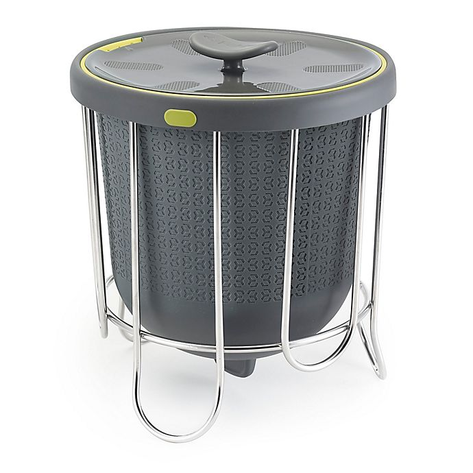 Alternate image 1 for Polder® 1-Gallon Kitchen Compost Bucket in Grey