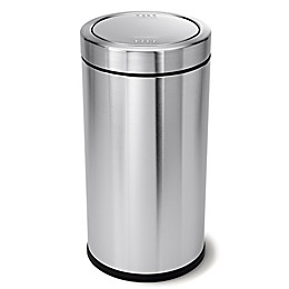 simplehuman® 55-Liter Round Swing Top Trash Can in Brushed Steel