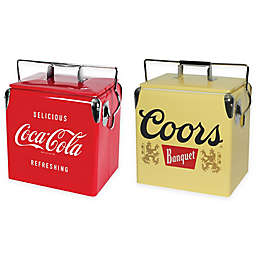 Famous Beverage Vintage Style 13-Liter Ice Chest Collection