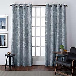 Finesse 108-Inch Grommet Top Window Curtain Panels in Steel Blue (Set of 2)