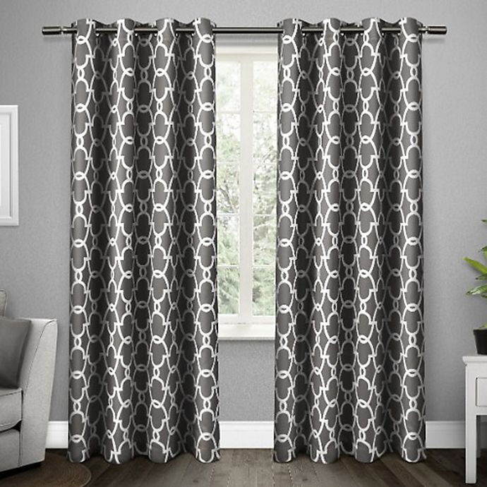 Alternate image 1 for Gates Grommet Top Room Darkening Window Curtain Panel Pair