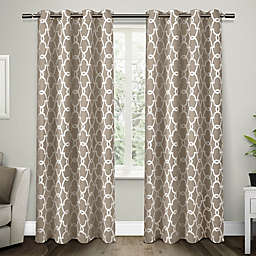 Gates 2-Pack 84-Inch Grommet Top Room Darkening Window Curtain Panels in Taupe