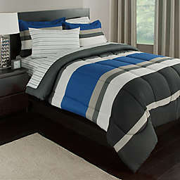 Rugby Stripe Reversible Comforter Set