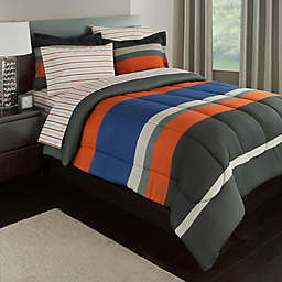 Rugby Stripe Reversible Comforter Set