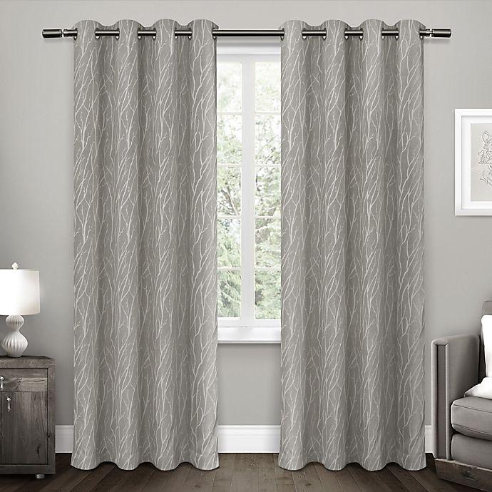 Alternate image 1 for Forest Hill Grommet Top Room Darkening Window Curtain Panel Pair