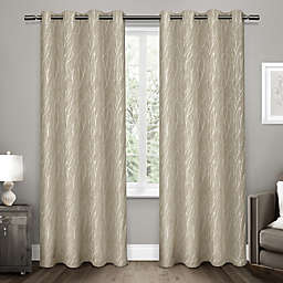 Forest Hill 96-Inch Grommet Top Room Darkening Window Curtain Panels in Natural (Set of 2)