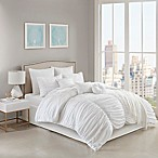 Jasmine 10-Piece Queen Comforter Set in White