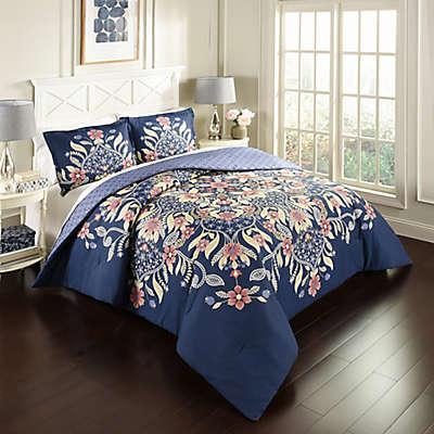 Marble Hill Floral Fantasy Reversible Comforter Set