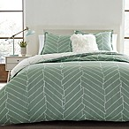 City Scene Ceres Reversible King Duvet Cover in Green