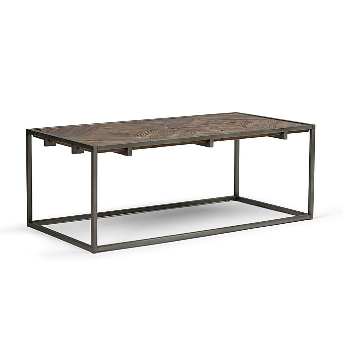 Alternate image 1 for Simpli Home Avery Coffee Table in Distressed Java Brown