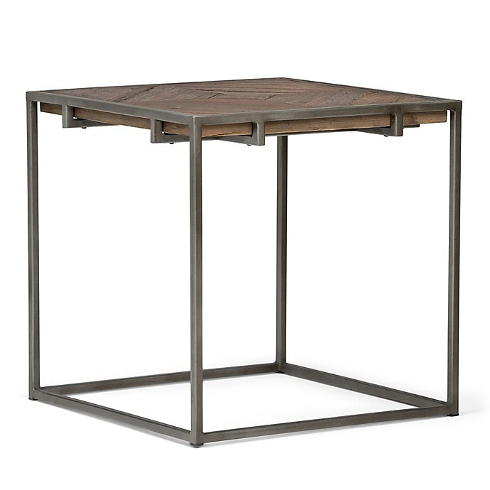 Alternate image 1 for Simpli Home Avery Square End Table in Distressed Java Brown