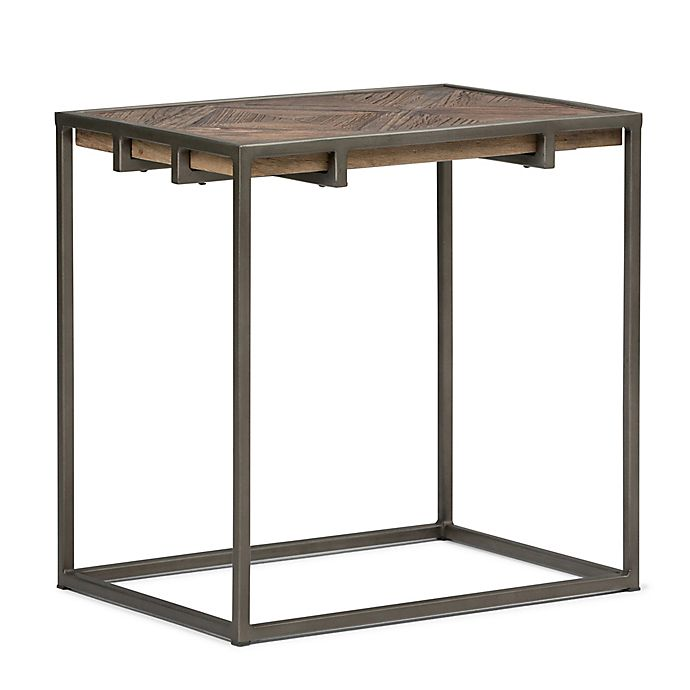 Alternate image 1 for Simpli Home Avery Narrow End Table in Distressed Java Brown