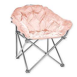 Folding Faux Mink Club Chair