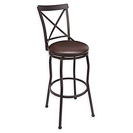 Faux Leather Upholstered Adjustable Bar Stool