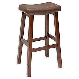 Aster Collection Faux Leather Upholstered Adjustable Bar Stool