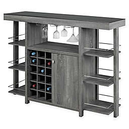 Brassex Inc. Bar with Smoked Glass Top