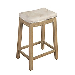 Linon Home Microfiber Upholstered Bar Stool