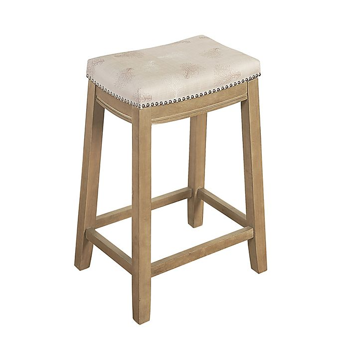 Cool Linon Home Microfiber Upholstered Bar Stool Bed Bath Beyond Unemploymentrelief Wooden Chair Designs For Living Room Unemploymentrelieforg