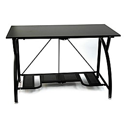 Origami Folding Computer Desk in Black