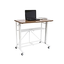 Origami™ Adjustable Computer Desk in White