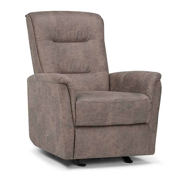 Alternate image 1 for Simpli Home Percy Glider Recliner in Distressed Grey
