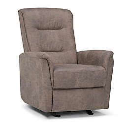 Simpli Home Percy Glider Recliner in Distressed Grey