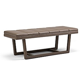 Simpli Home™ Faux Leather Upholstered Bench