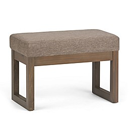 Simpli Home™ Milltown Faux Leather Ottoman Bench