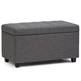 Simpli Home™ Faux Leather Upholstered Ottoman