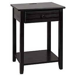 Casual Home Night Owl Nightstand with USB Port