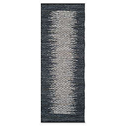 "Safavieh Vintage Leather 2'3"" x 9' Logan Rug in Charcoal"