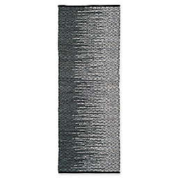 "Safavieh Vintage Leather 2'3"" x 9' Kinsey Rug in Charcoal"