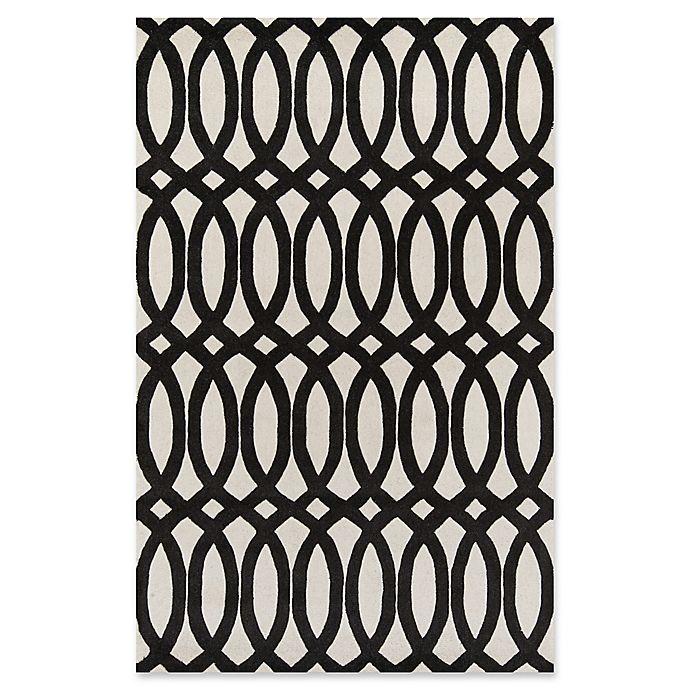 Alternate image 1 for Momeni Delhi Hand-Tufted Geometric Looped 8' x 10' Accent Rug in Black