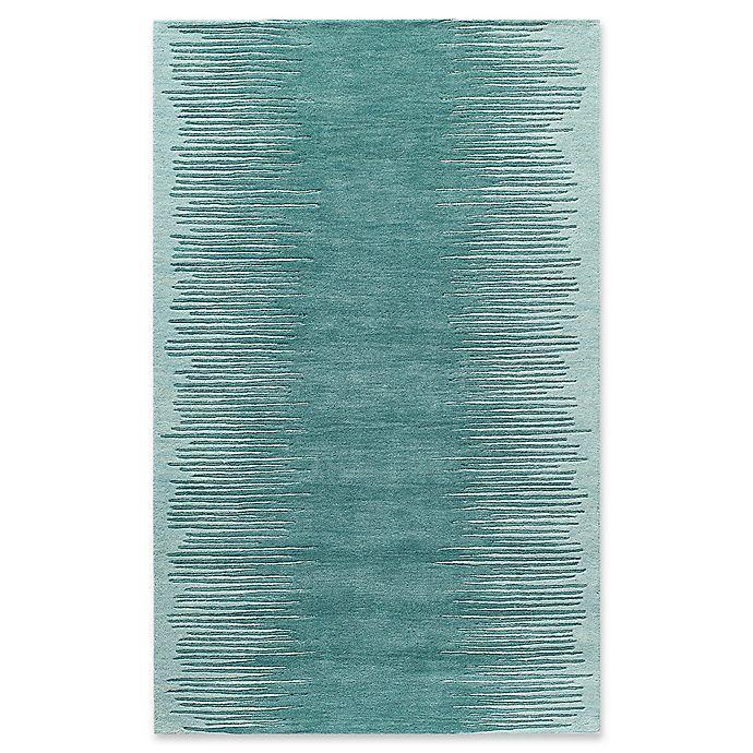 Alternate image 1 for Momeni Delhi Striped Hand-Tufted 8' x 10' Accent Rug in Aqua