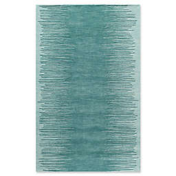 Momeni Delhi Striped 8' x 10' Hand-Tufted Area Rug in Aqua