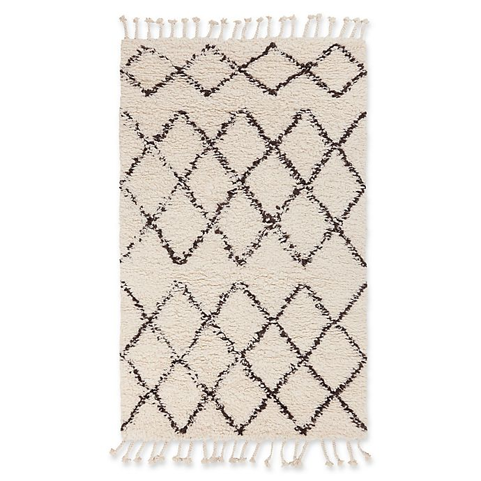 Alternate image 1 for Surya Sherpa Shag 8' x 10' Area Rug in White/Black