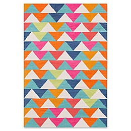 Surya Technicolor Geometric Hand-Tufted Area Rug in Mint/Lime
