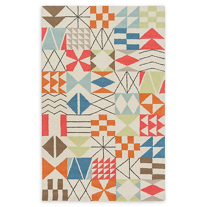 Alternate image 1 for Surya Shiloh Geometric 8' x 10' Area Rug in Bright Orange