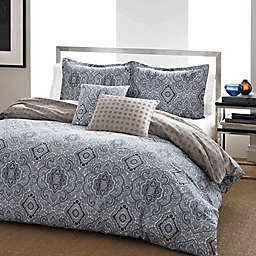 City Scene Milan 3-Piece Reversible Duvet Cover Set