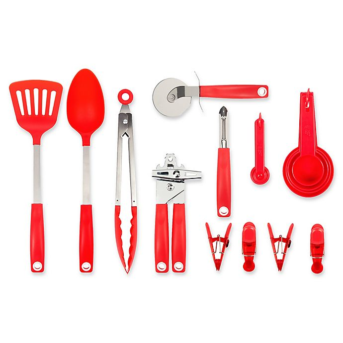 Alternate image 1 for Core Kitchen 18-Piece Value Tool Set in Red