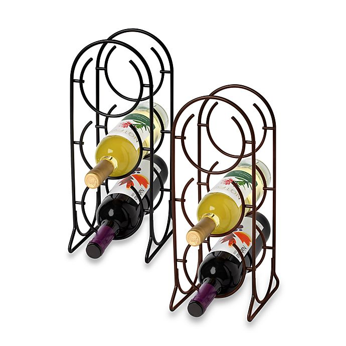 Alternate image 1 for Spectrum™ Horseshoe 3-Bottle Metal Wine Rack