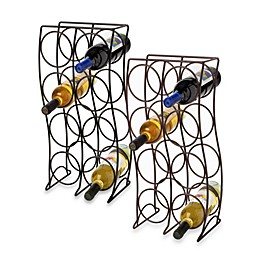 8-Bottle Metal Wine Rack