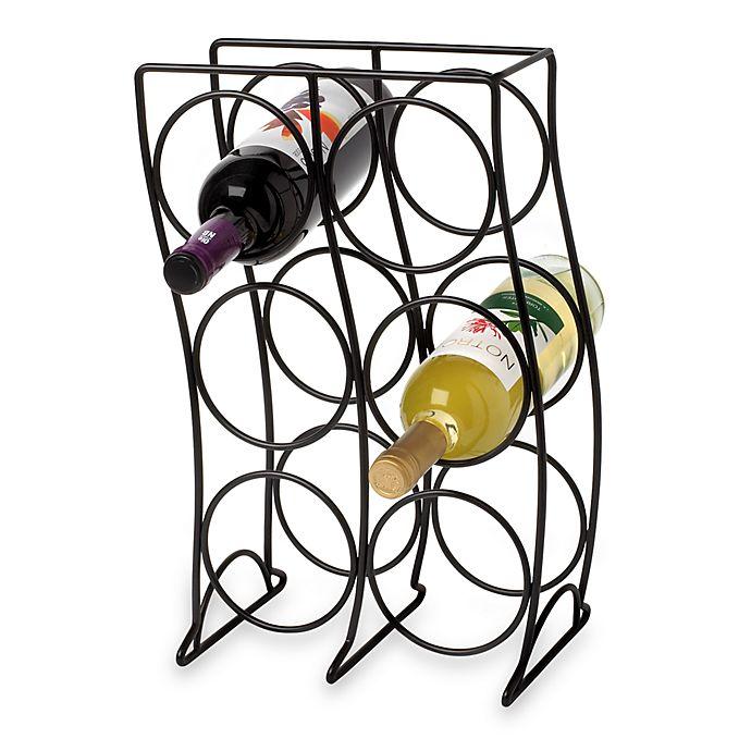 Black 6 Bottle Wine Rack Bed Bath Amp Beyond