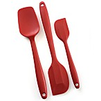 Norpro® 3-Piece Silicone Spatula Set in Red