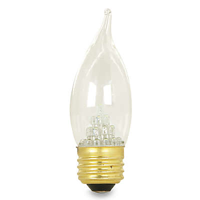 Feit Electric LED Clear Flame Tip Chandelier Bulb with Standard Base
