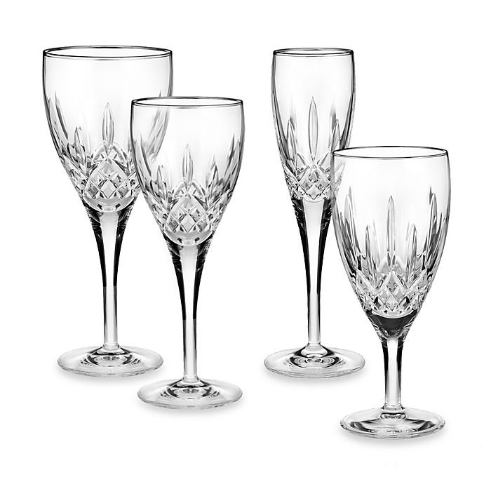 Alternate image 1 for Waterford® Lismore Nouveau Platinum Wine Glass Collection
