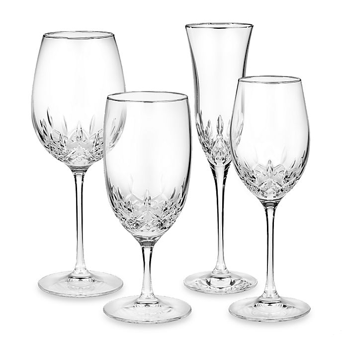 Alternate image 1 for Waterford® Lismore Essence Platinum Wine Glass Collection