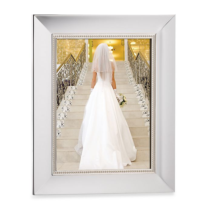Alternate image 1 for Lenox® Jubilee Pearl 8-Inch x 10-Inch Picture Frame in Silver