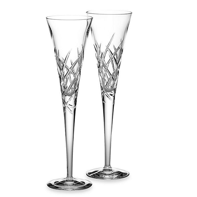 Alternate image 1 for Vera Wang Wedgwood® Duchesse Encore 7oz Crystal Toasting Flutes (Set of 2)